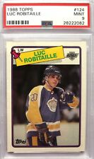 1988-89 Topps Luc Robitaille #124 Los Angeles Kings 88-89 RC Mint PSA 9