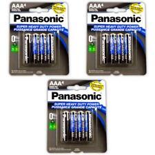 12 Pcs Panasonic Aaa Batteries Heavy Duty Power CarbonZinc Triple A Battery 1.5v
