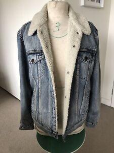 Levis Strauss Denim Jacket Wool Men's Medium