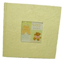 200 Pic Newborn Baby Yellow Photo Album Teddy Bear Cover Shower Boy Girl Gift