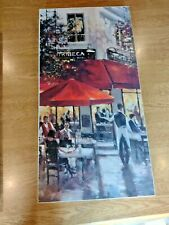 More details for brent heighton canvas print  tribeca bar on mounted wood 80 x 40 cm