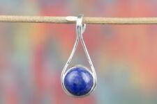 Lapis Lazuli Pendant.925 Silver..Wedding Pendant..Anniversary Gift..Boho Pendant