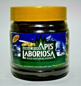 Wild Cliff Rock Raw Honey Pure Organic Natural Himalayan From Nepal Jar 300gm
