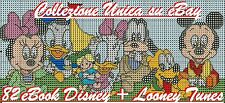 OLTRE 4.000 SCHEMI PUNTO CROCE DISNEY LOONEY TUNES  82 EBOOK - CROSS STITCH DMC