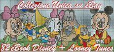 OLTRE 4.000 SCHEMI PUNTO CROCE DISNEY LOONEY TUNES  82 EBOOK - CROSS STITCH DMC