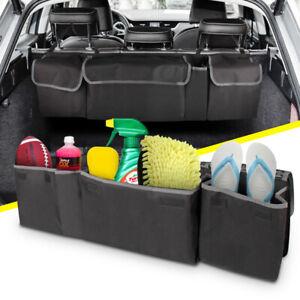 Black Car Back Seat Organiser Travel Storage Bag Organizer Muliti Pocket Holder