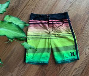 Hurley Surf Little Boys 4 Swim Trunks Board Shorts Americana Red White Blue