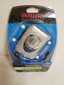 BRAND NEW vtg AIWA model HS-TA403 AM/FM stereo RADIO CASSETTE PLAYER walkman WOW