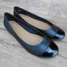 Size UK 6.5 D Clarks Atómico Neblina Cuero Negro Zapatos Planos Ballet bomba Bailarinas