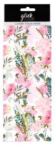Glick Printed Patterned Luxury Tissue Paper 4 sheets Pastel Summer Floral