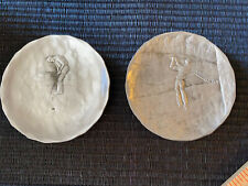 Vintage By Natale Hand Hammered Golf Trinket Dish Coasters