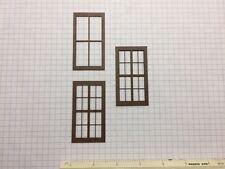 "O Scale Laser Cut Warehouse Windows (10 Ct. Lot) 2-Piece 1-1/2"" x 2-3/4"" (W1-03)"