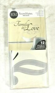 Family is Love RoomMates Wall Decals 12 Removable Wall Decals Gray Black