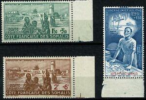 COTE DES SOMALIS 1942  PA n° 8 à 10 neufs ★★ Luxe /MNH