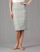 BODEN Modern Pencil Skirt Silver Women's WG491 US 2R 2 Regular  NEW $128