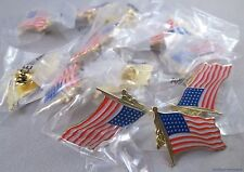 Wholesale Lot Of 12 Usa Us Flag Pins lapel hat military American pole Patriotic