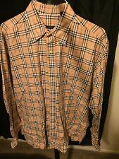 Burberry Classic Nova Plaid Men's Large Button-up Long-Sleeve Shirt. From 2002