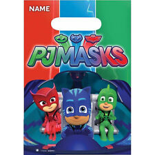 PJ MASKS LOOT BAGS LOLLY TREAT PACK OF 8 BIRTHDAY PARTY SUPPLIES