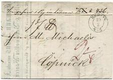Preussen-Vorphilatelie: Brief mit vollem Inhalt Berlin vom 19.Feb.1849