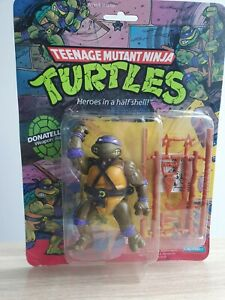 TMNT Ninja Turtles 1988 Donatello Soft Head Playmates Sealed