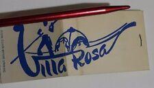 Villa Rosa Matchbook FS Full Italian Pizza Restaurant Merrick Rd Freeport LI NY