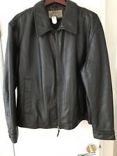ARMANI JEANS BROWN LEATHER JACKET SIZE IT54