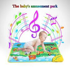 Musical Learning Farm Flash Music Carpet Blanket Touch Toy for Baby Kids B6C3