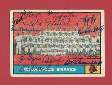 1961 Topps Card #463 Signed Autographed 1960 Milwaukee Braves Team Card 11 Autos
