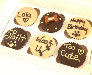 6 boxed mixed DOG MUFFINS CUPCAKE CAKES CAKE BIRTHDAY treat puppy personalised