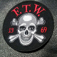 SONS OF OUTLAW  F.T.W SKULL BONES 13-69 BIKER ANARCHY GANG FTW PATCH