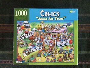 """Comic Relief """"Jungle Air Tours"""" 1000 Piece Jigsaw Puzzle - RJ Crisp"""