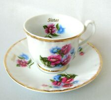 TLC Italy Sweet Peas 'Sister' Demitasse Cup and Saucer