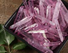 10g Small PINK AURA QUARTZ Crystal Points - Rose Aura Generators E0391