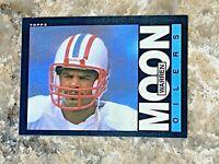 1985 Topps Warren Moon RC #251 Houston Oilers Rookie HOF NFL Football Card 2