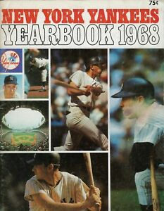New York Yankees 1968 Yearbook Mickey Mantle on Cover