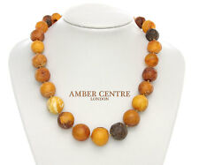 Genuine Antique German Baltic Amber Bead Necklace 72 grams - A0224 -  RRP£1150