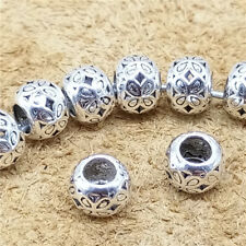 20pcs of 925 Sterling Silver Luck Four Leaf Clover Beads Bracelet Lucky Spacers