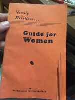 Vintage 1948 Book Booklet Family Relations Guide For Women Dr. Carrington Ph. D.
