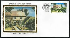 Jersey Fdc - Natl Trust 50th Anniversary - Le Rat - Colorano Silk Cachet!
