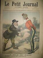 AFRIQUE DU SUD TRANSVAAL EBOULEMENT PLACE DE L'ETOILE LE PETIT JOURNAL 1899