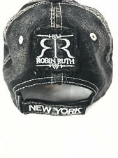 b9753a78da0 Robin Ruth The City Of New York Distressed Baseball Hat Cap Black Jean Look