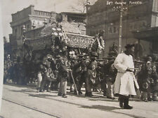 ANTIQUE CHINESE FUNERAL PARADE CHINA EARLY 1920s ARCHITECTURE CASKET RARE PHOTO