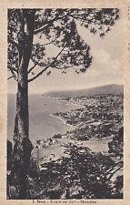 BOLLO 6 LIRE SU CARTOLINA DI SANREMO PANORAMA TIMBRO CASINO' MUNICIPALE 3-35