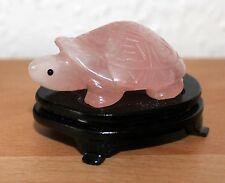 China Rosen Quartz Schildkröte Rose quarz carved  chinese turtle chine hardstone