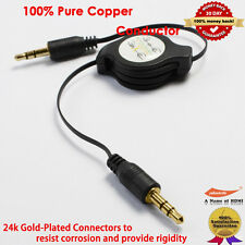 Gold Aux Audio Cable 3.5 mm Jack for iPod/Mp3/Zune/Car Audio - Black