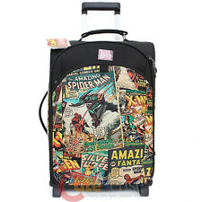 "Marvel Comics Heroes Retro 20"" Trolley Bag Suit Case Luggage Rolling Faux Leathe"