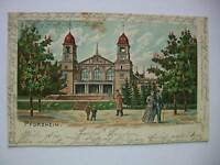 Ansichtskarte Pforzheim 1901 Saalbau Stadtgarten
