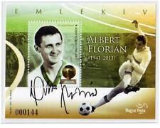 HUNGARY - 2012. Albert Florian, football player - commemorative sheet - MNH