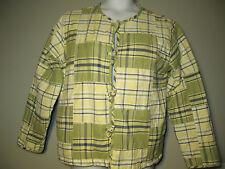 Sz M Medium Christopher & Banks jacket blazer Yellow Green Blue career women