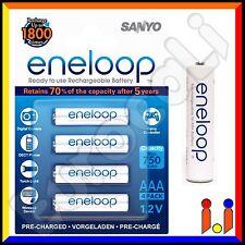 4 BATTERIE RICARICABILI PILE MINISTILO SANYO ENELOOP AAA 750mAh Pila batteria